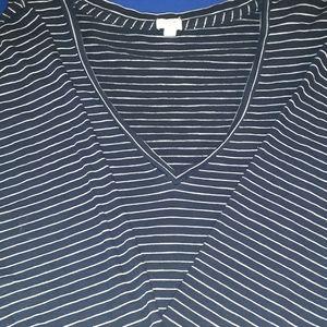 J Crew Blue Stripes /Long Sleeves Shirt